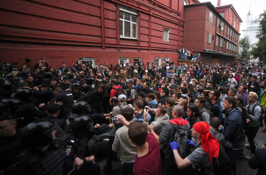 Rusijos opozicija surengė protestą.