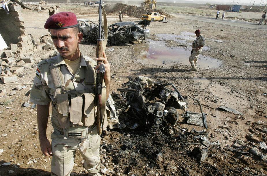 Irake – išpuolių virtinė.
