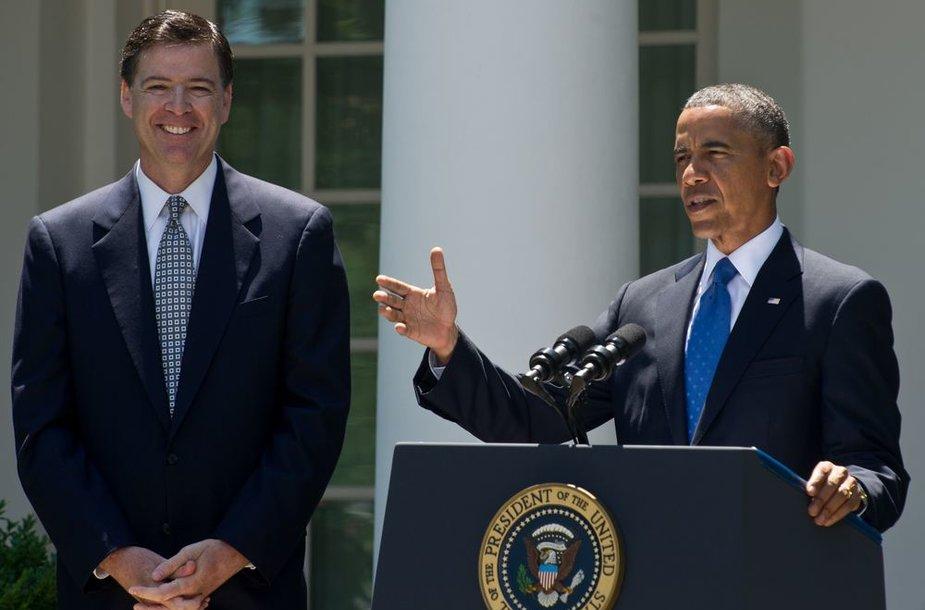 JAV prezidentas Barackas Obama į FTB vadovo postą paskyrė Jimą Comey.