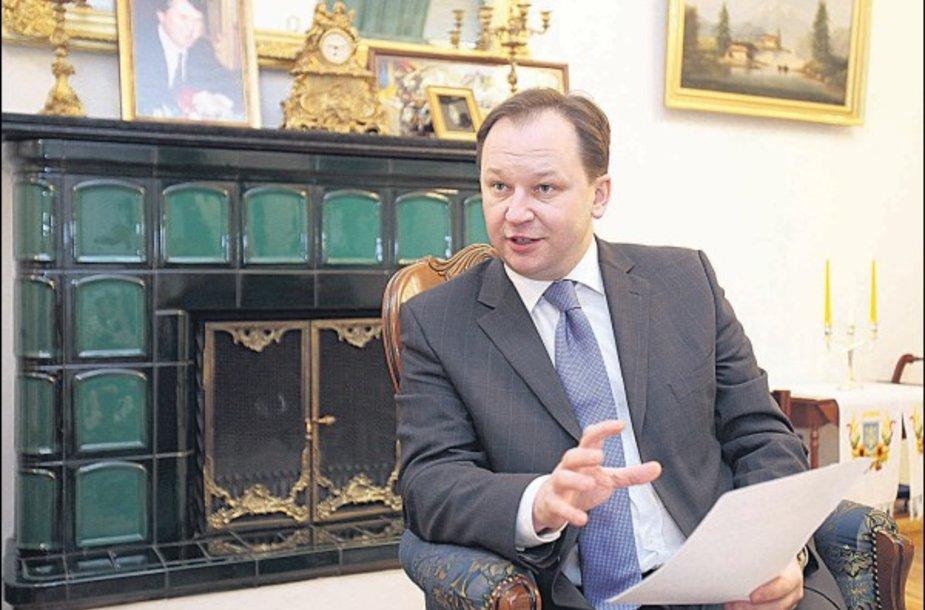 Ukrainos ambasadorius I.Prokopčiukas tiki gražia Lietuvos ir Ukrainos ateitimi vieningoje Europoje.