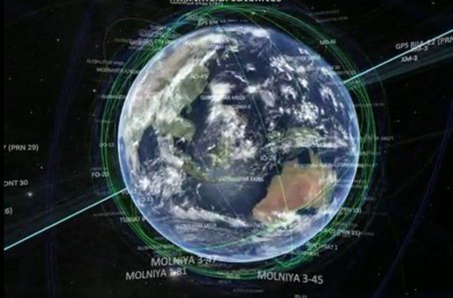 Žemė galiausiai virsta mažyčiu taškeliu kosmoso platybėse.