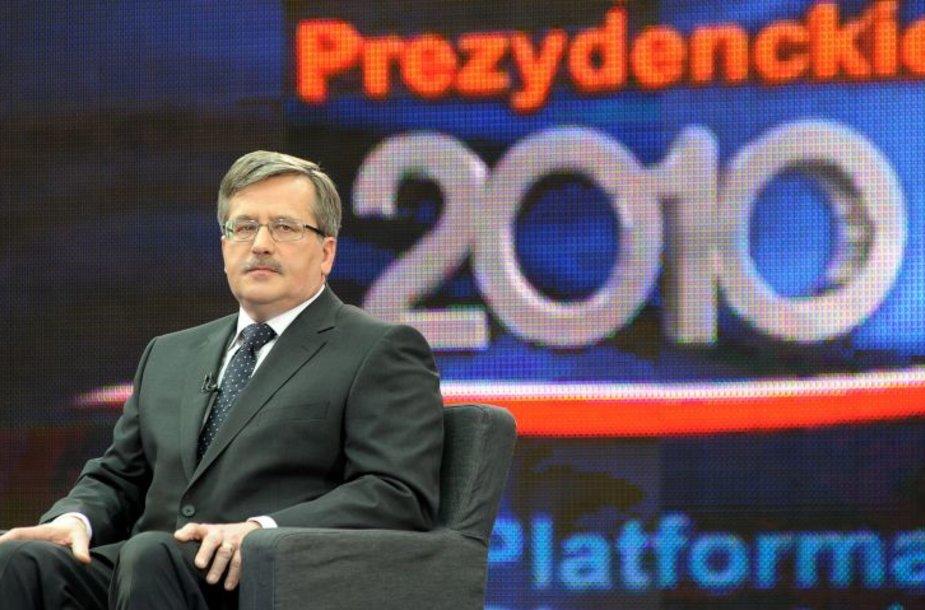 Lenkijos prezidento pareigas einantis Seimo pirmininkas Bronislawas Komorowskis