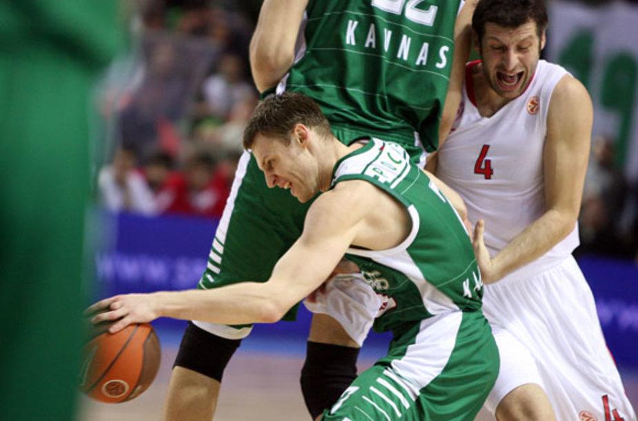 """Eurolyga: """"Žalgirio"""" ir """"Olympiacos"""" rungtynių akimirkos"""