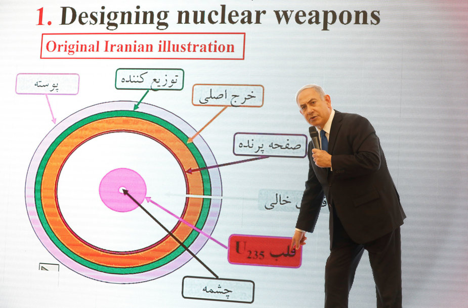 Izraelio premjeras Benjaminas Netanjahu