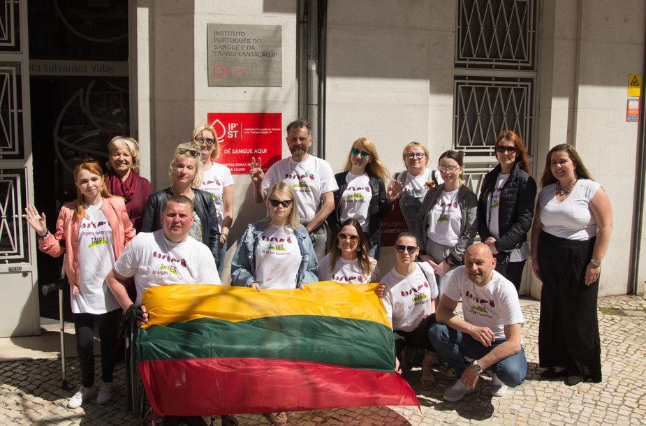 """""""Draugystė veža"""" susitikimas su Portugalijos transplantacijo biuru"""