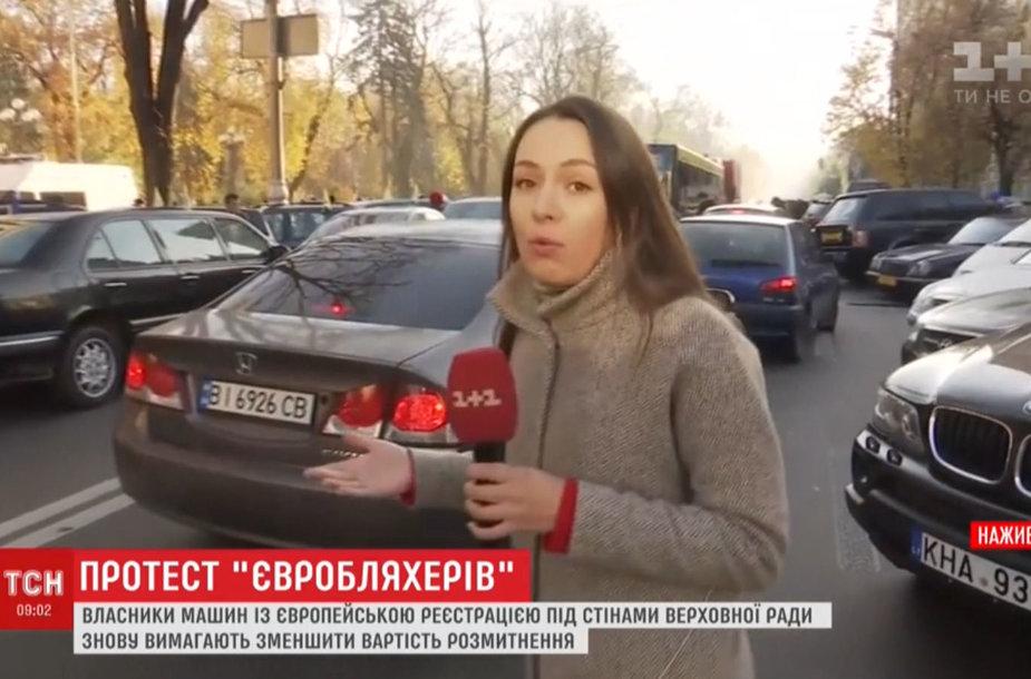 Kijevo centre – vairuotojų protestai