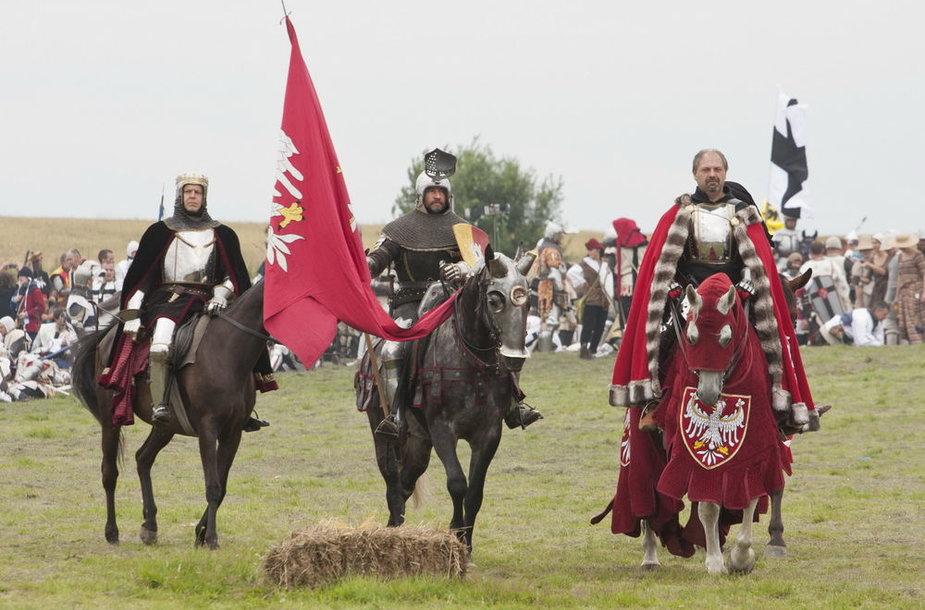 Lietuvos kariuomenės Garbės sargybos kuopos kariai dalyvavo Žalgirio mūšio inscenizacijoje Griunvalde (Lenkija)