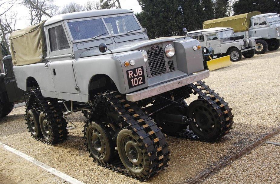 Land Rover Cuthbertson galėjo važinėti ir keliais, bet buvo labai lėtas ir nepatogus. (Gamintojo nuotrauka)