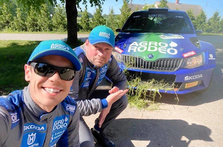 Vaidotas Žala ir Andris Malniekas Rally Žemaitijoje
