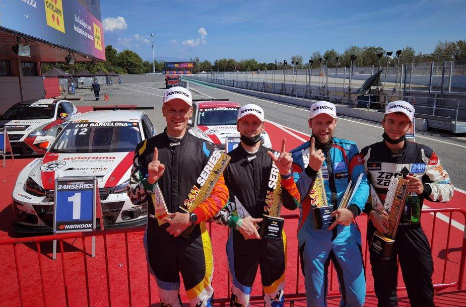Arūnas Gečiauskas, Vytenis Gulbinas, Sigitas Ambrazevičius ir Paul Sieljes laimėjo Barselonos 24 val. TCR klasėje