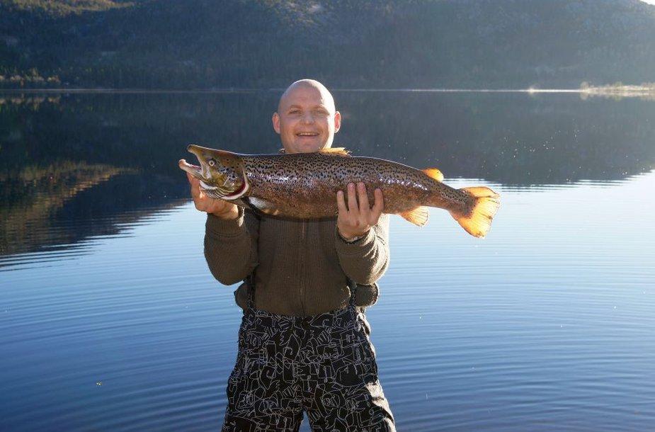 Aurimo upėtakis (4,6 kg) iš Norvegijos