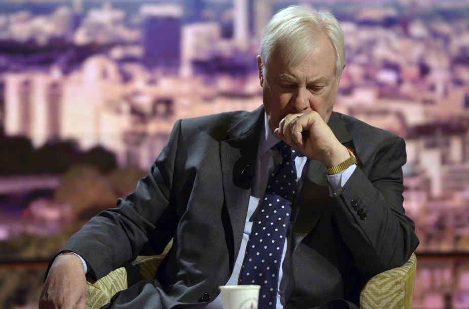 """""""BBC Trust"""" pirmininkas Chrisas Pattenas"""