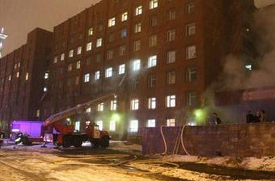 Sankt Peterburgas: gaisras ligoninėje