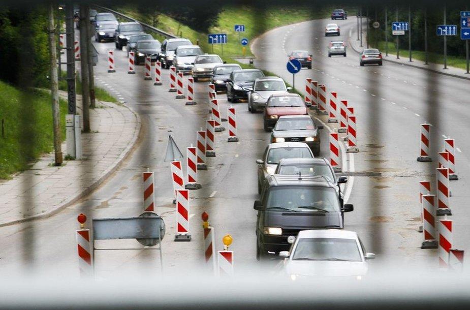 Transporto spūstis Vilniuje po ilgojo savaitgalio