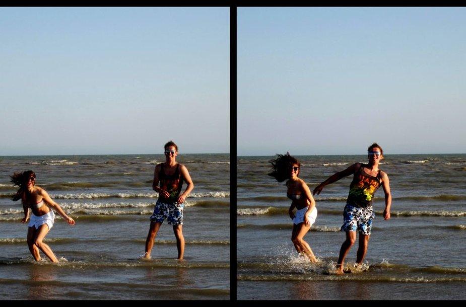 """""""Bikini porelė"""": Justina ir Paulius Camber beach (UK)"""
