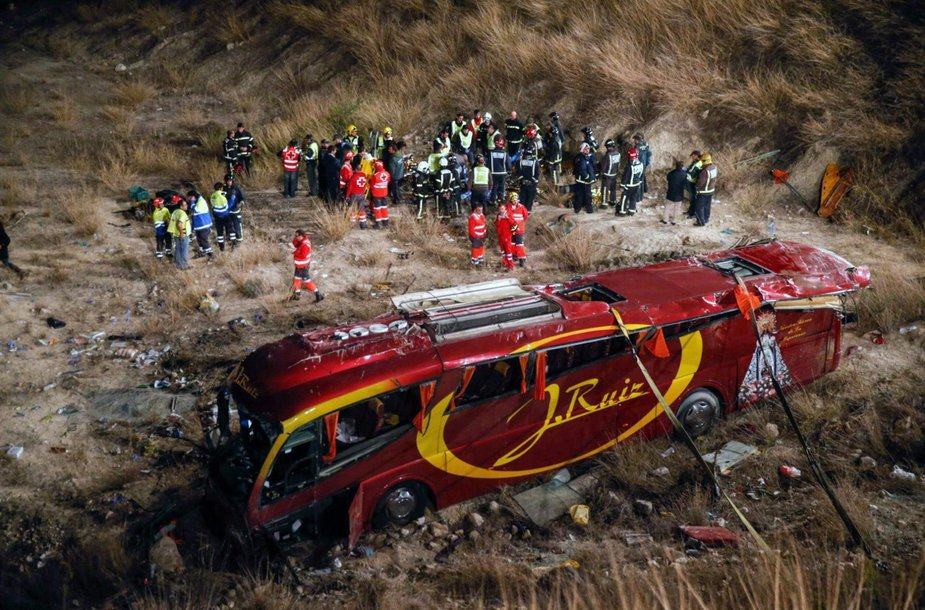 Autobuso avarija Ispanijoje