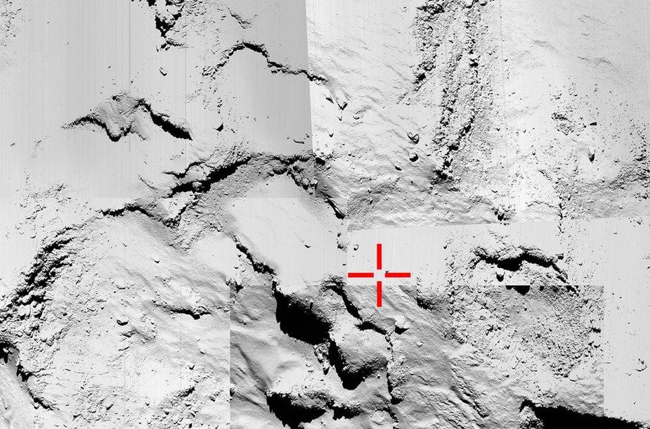 67P/Čuriumovo-Gerasimenko kometos paviršius
