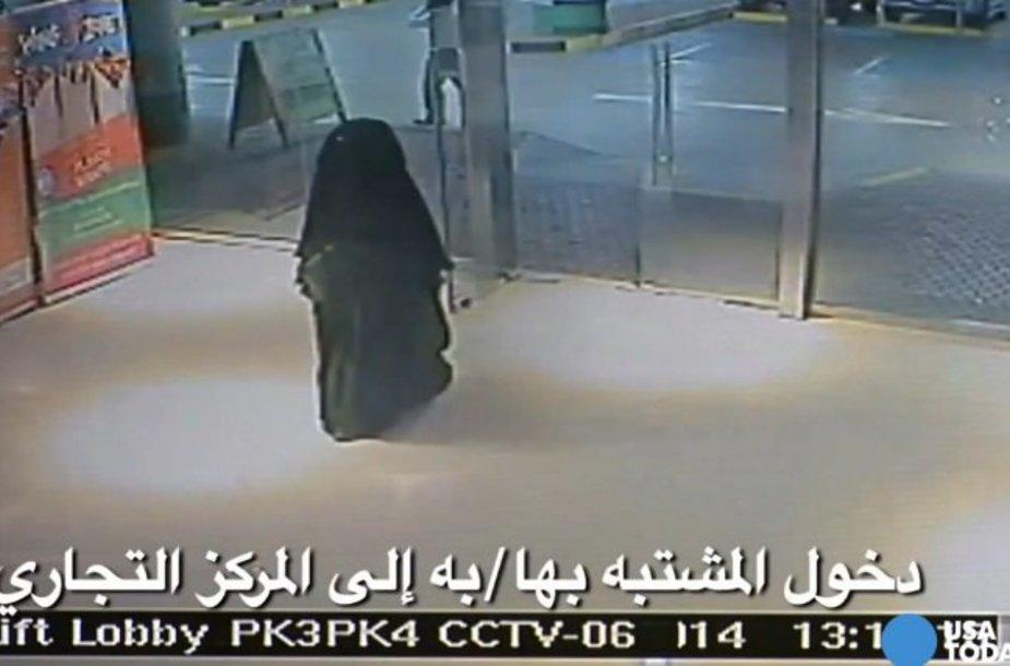 Įtariamoji nužudymu Abu Dabio prekybos centre