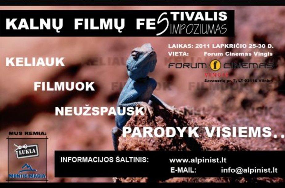 Kalnų filmų festivalio plakatas