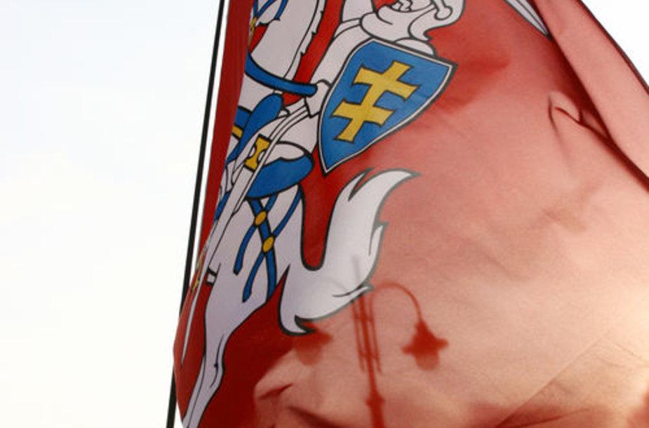 Istorinė vėliava su Vyčiu
