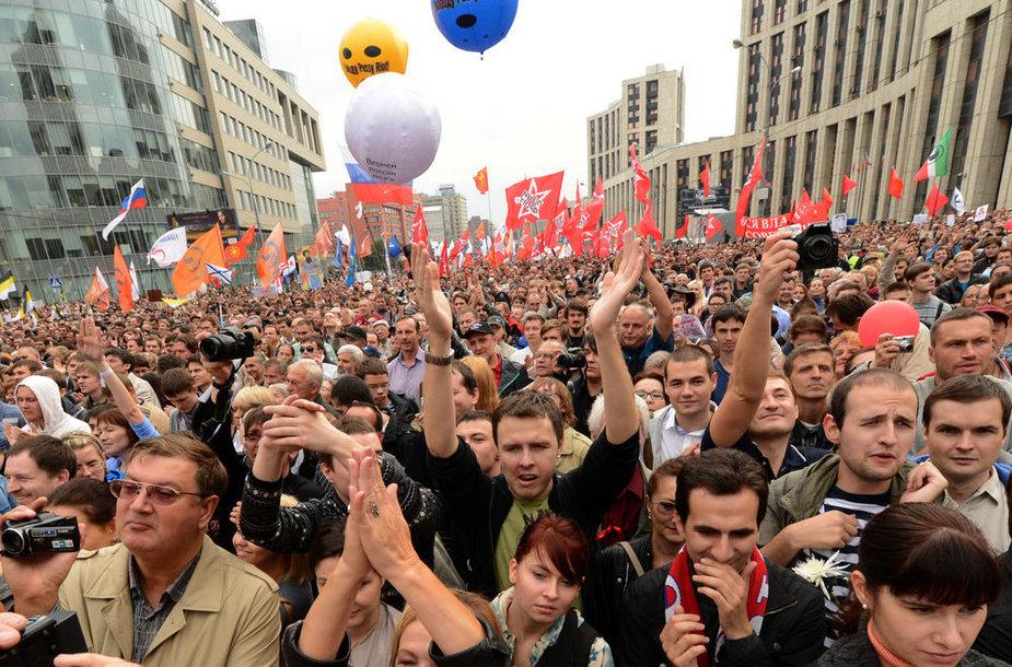 """""""Milijonų maršo"""" mitingas Maskvoje"""