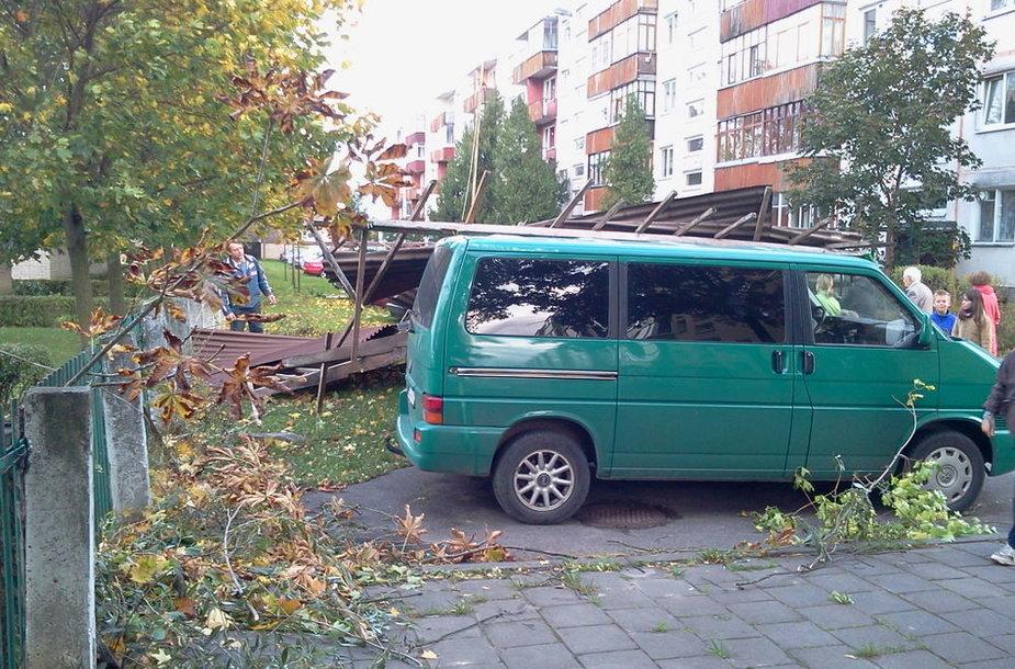 Vėjo padariniai Panevėžyje