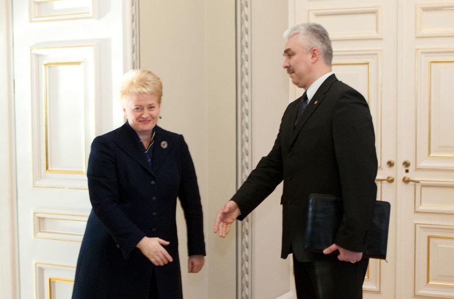 Dalia Grybauskaitė ir Žimantas Pacevičius