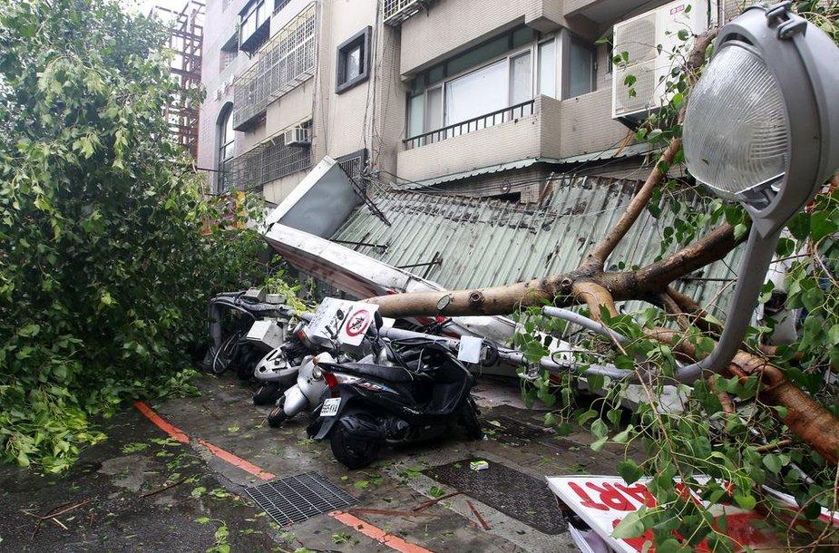 Taifūno padariniai Taivane