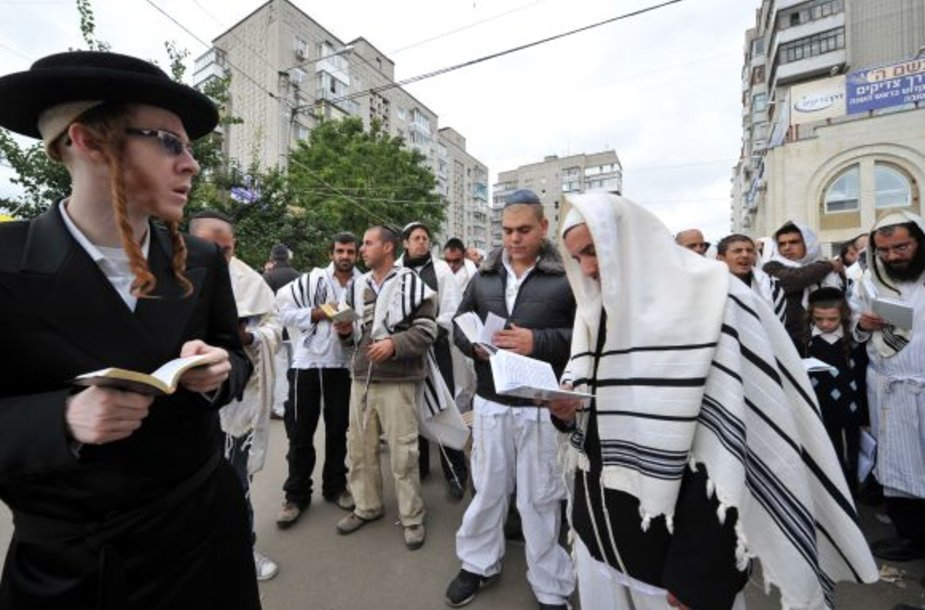 Žydų chasidų piligrimai Umanėje