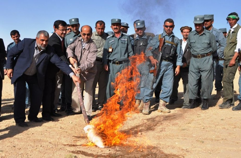Goro provincijoje deginamos narkotinės medžiagos
