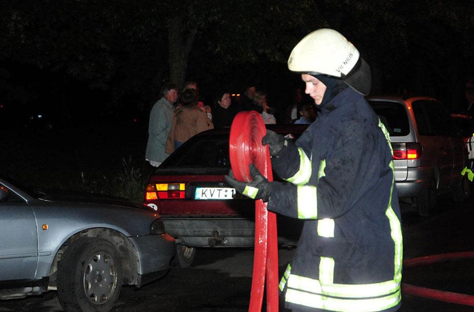 Įvykio vietoje Vilniuje, Didlaukio g.