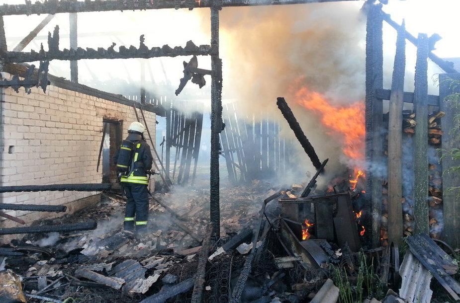 Degantis ūkinis pastatas Švėkšnoje