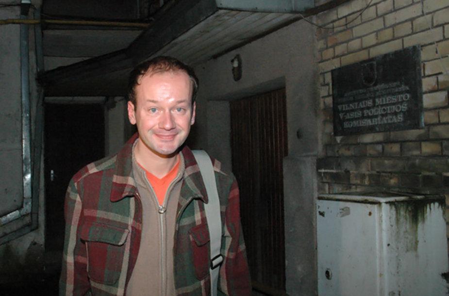 Rokas Žilinskas iš karto po to, kai buvo paleistas iš policijos