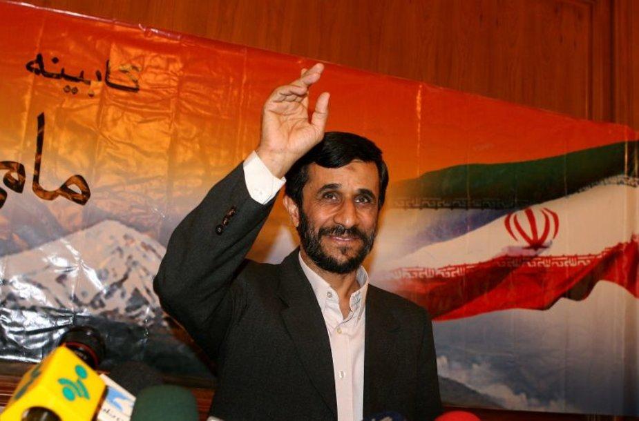 Irano vadovas Mahmoudas Ahmadinedžadas.