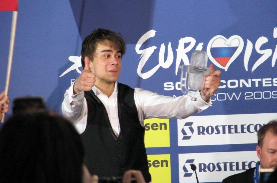 """""""Eurovizijos"""" nugalėtojas Aleksandras Rybakas"""