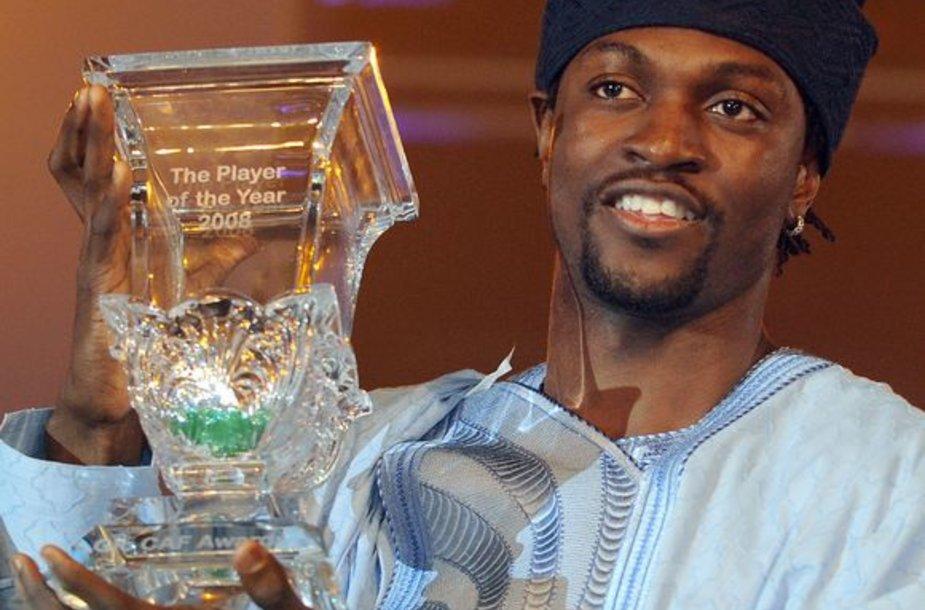 Geriausiu Afrikos žemyno futbolininku E.Adebayoras tapo pirmą kartą