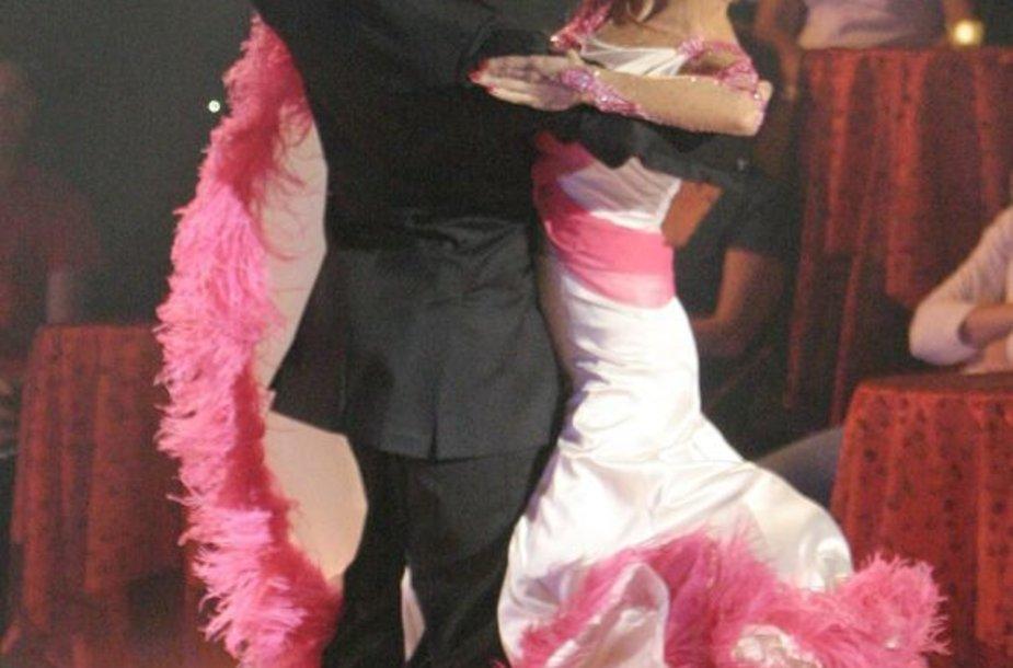 D.Vėželis ir L.Chatkevičiūtė - Lietuvos klasikinių šokių čempionai.