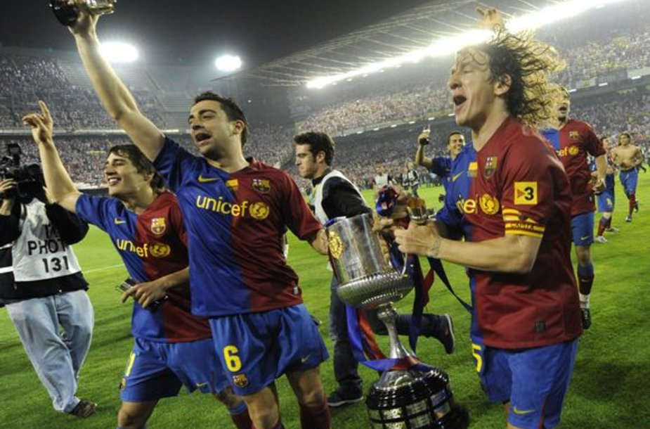Ispanijos taurę katalonai laimėjo pirmąkart nuo 1999 metų