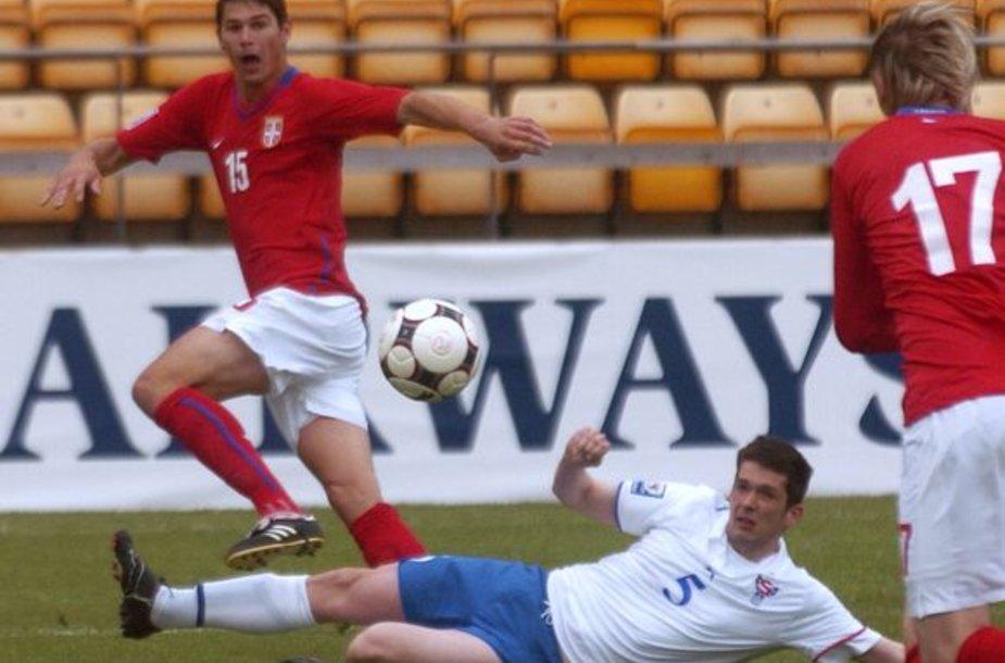 Serbai nesunkiai įveikė Farerų salų futbolininkus