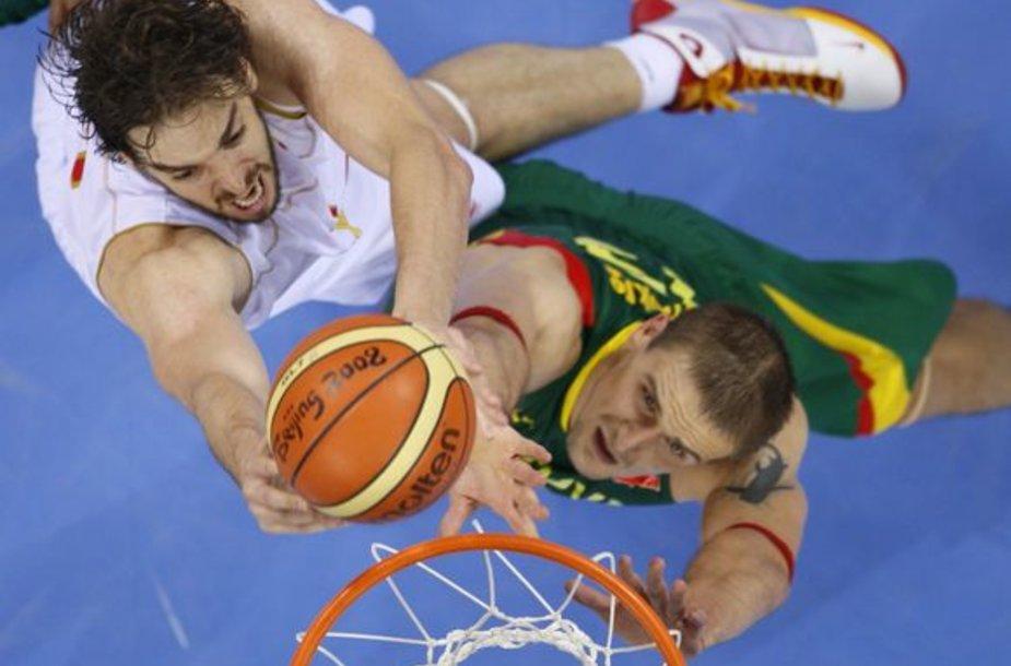 Dvikova tarp Ispanjijos ir Lietuvos rinktinių bus paskutinė repeticija prieš Europos čempionatą