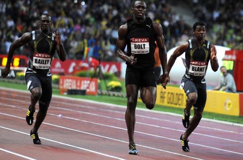 U.Boltas Paryžiuje be didesnio vargo laimėjo bėgimą