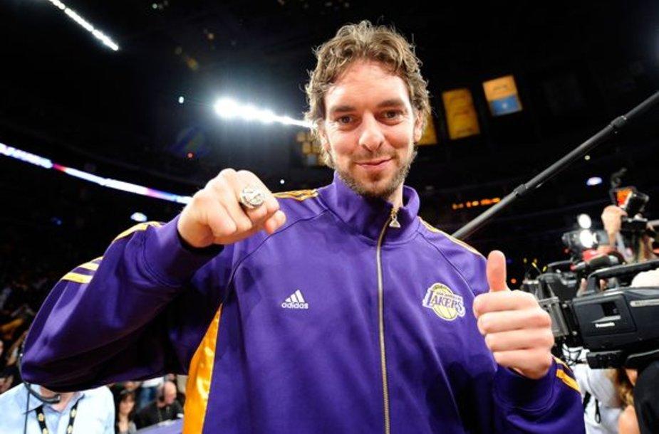 P.Gasolis šiais metais iškovojo NBA aukso žiedą ir Europos čempionato auksą