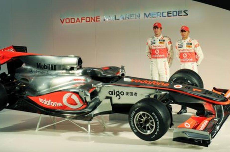 """Pristatytas naujasis """"McLaren"""" bolidas"""