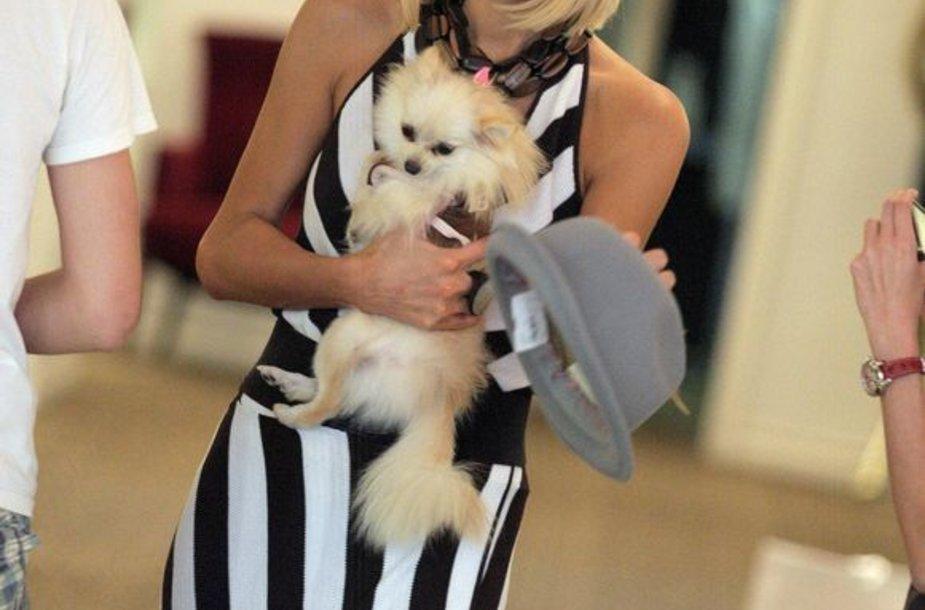 Paris Hilton su šuniuku