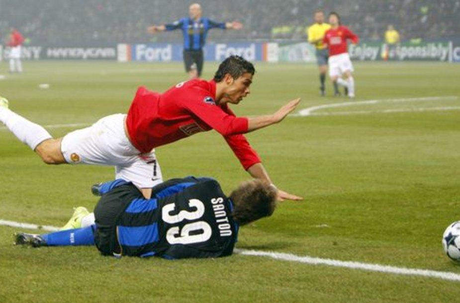 """""""Inter"""" ir """"Manchester United"""" vienuolikių mūšis buvo vienintelis, kuriame futbolo gerbėjai neišvydo įvarčių."""