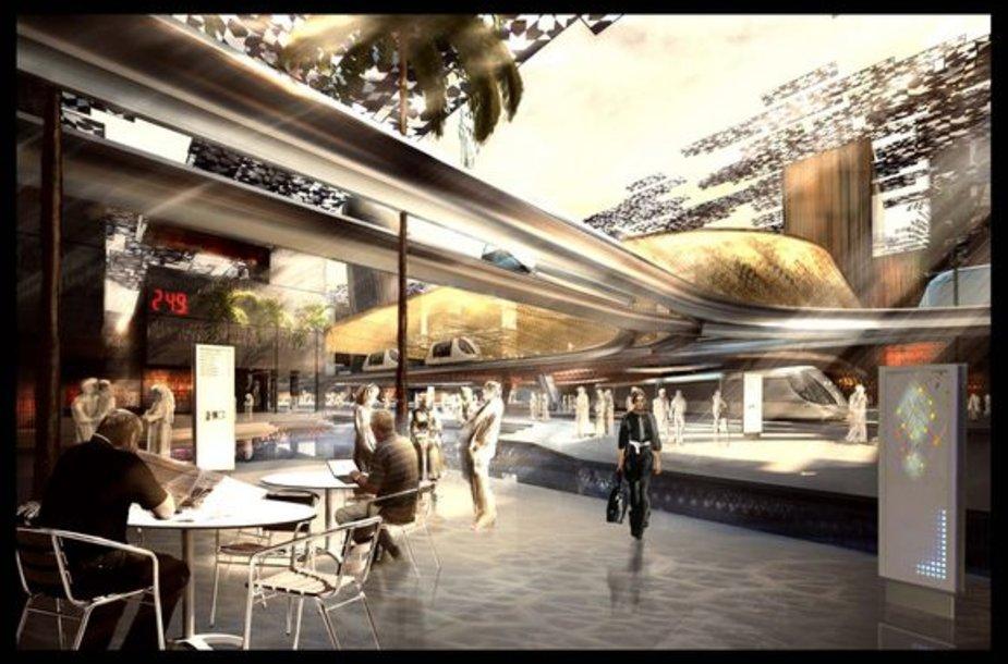 """Masdaro projektuotojai žada sukurti """"žaliausią"""" miestą visame pasaulyje."""