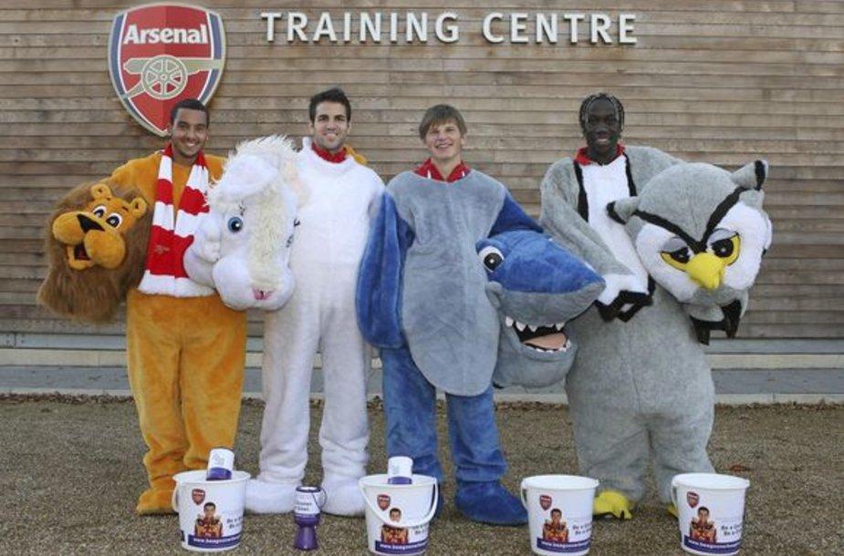 """Londono futbolo klubo """"Arsenal"""" žaidėjai"""