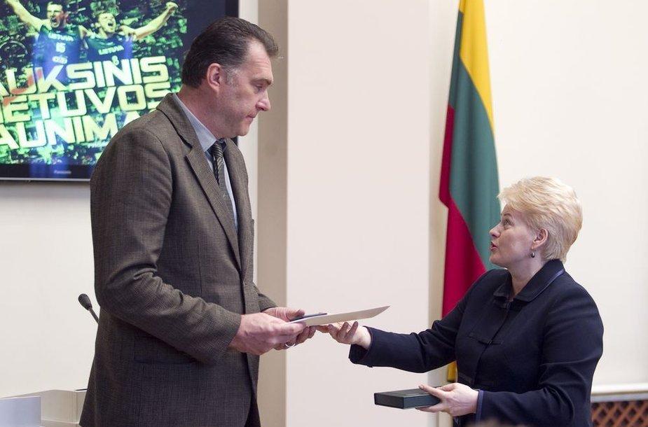 Arvydas Sabonis ir Dalia Grybauskaitė