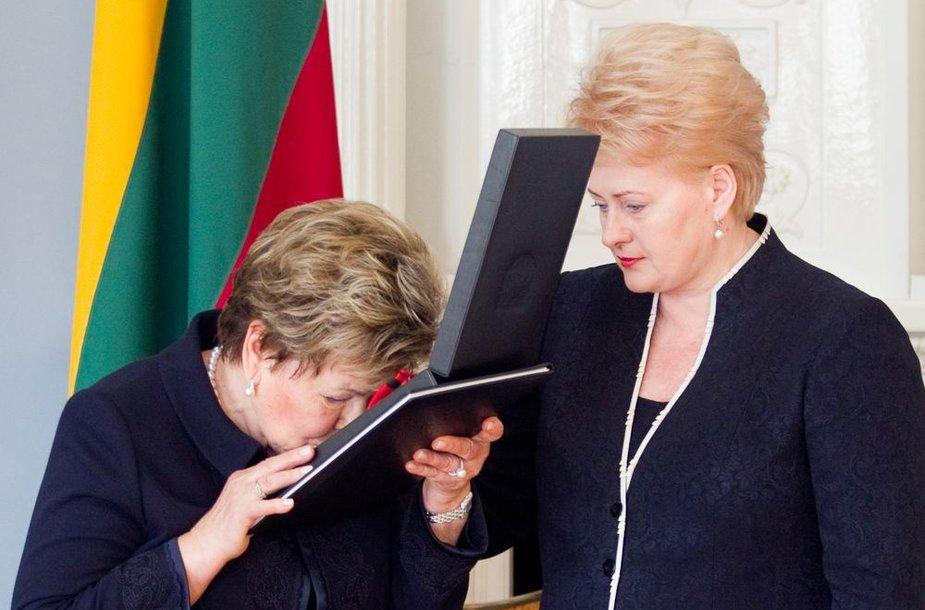 Naina Jelcina ir Dalia Grybauskaitė