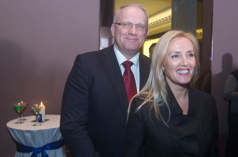 Jonas Pinskus su žmona Živile